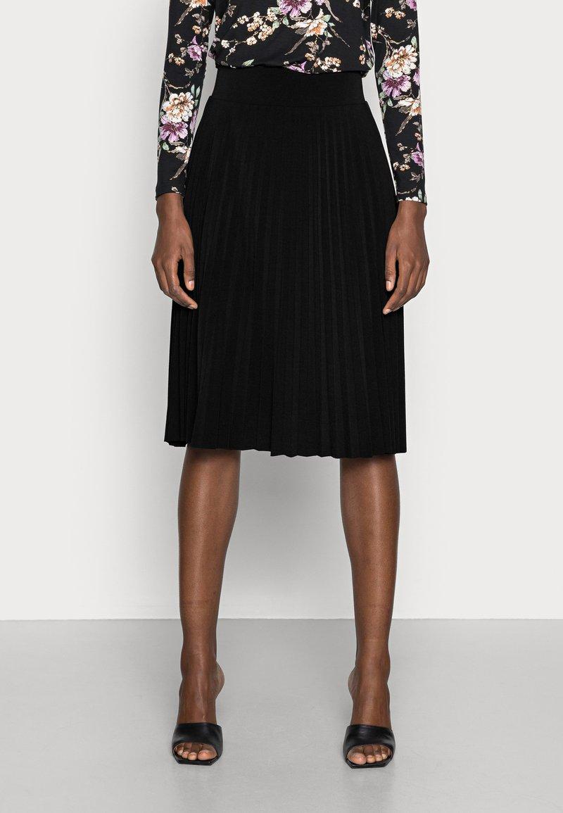 Anna Field - Plisse A-line mini skirt - Jupe trapèze - black