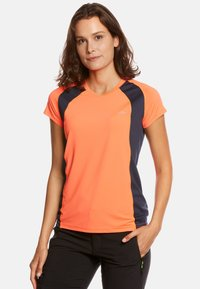 Jeff Green - ELLA - Print T-shirt - neon orange/navy - 0