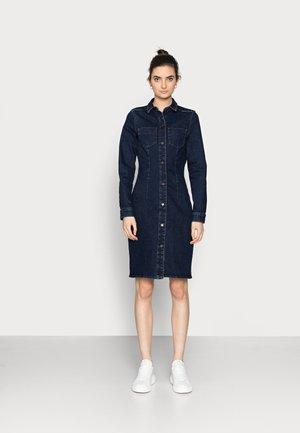 VMGRACE SLIM BUT DRESS - Spijkerjurk - dark blue denim