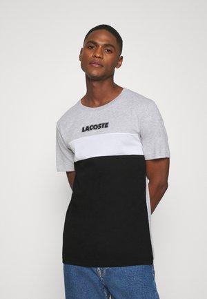 T-shirt imprimé - argent chine/noir/blanc