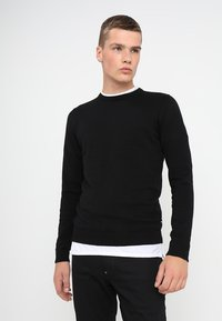 Jack & Jones - JJEBASIC - Stickad tröja - black - 0