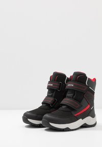 Geox - SENTIERO BOY WPF - Winter boots - black/red - 3
