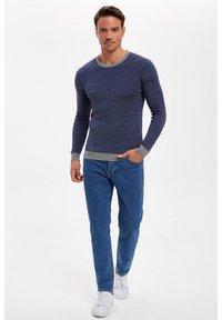 DeFacto - Stickad tröja - blue - 1