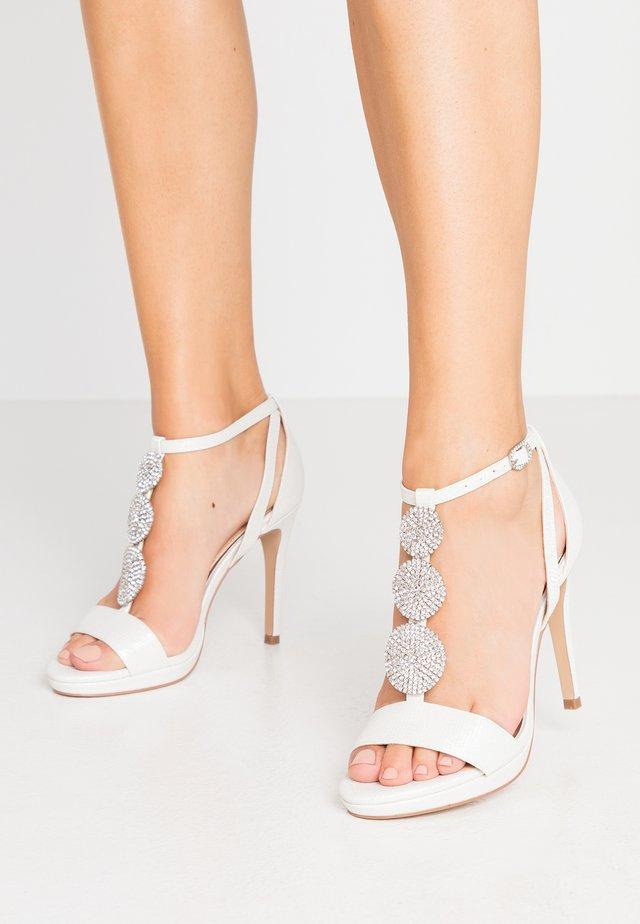 SNOWDROP - High heeled sandals - white