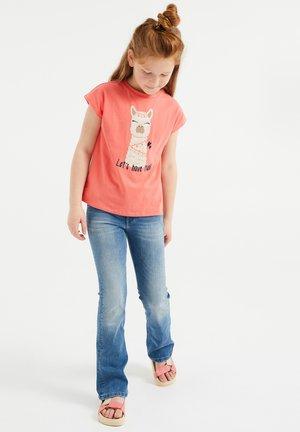 T-shirt con stampa - orange