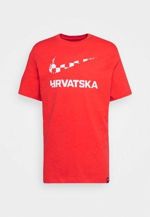 KROATIEN CRO TEE GROUND - National team wear - light crimson
