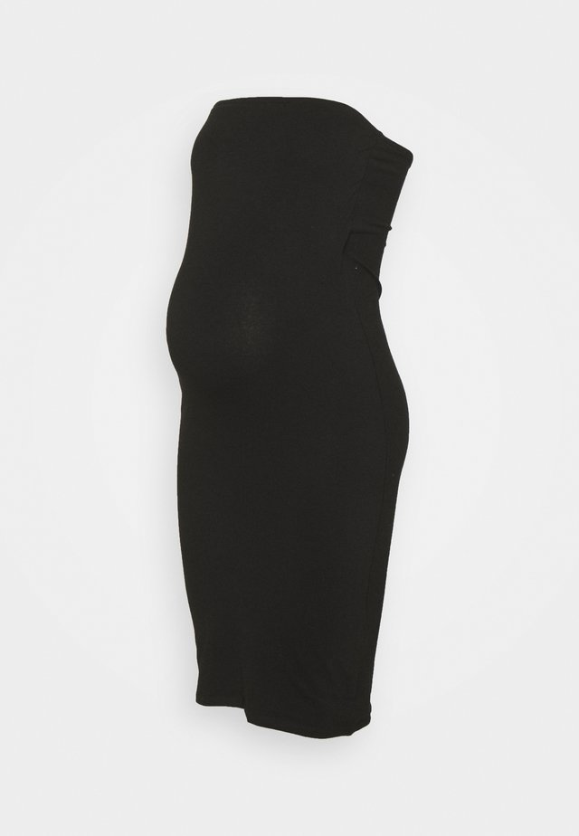 MATERNITY STRAPPLESS DRESS - Sukienka z dżerseju - black