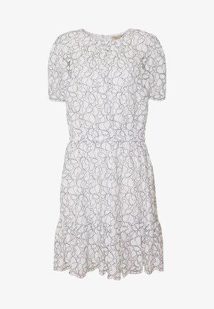 FLOUNCE LACE DRESS - Day dress - white