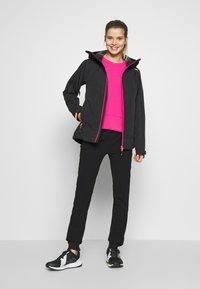 CMP - WOMAN JACKET FIX HOOD - Hardshell jacket - antracite - 1