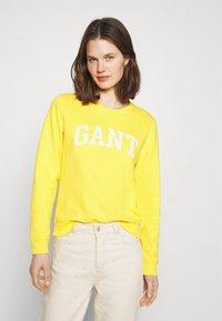 GANT - ARCH LOGO CREW NECK - Sweatshirt - solar power yellow - 0