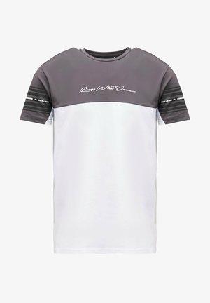 VEZ - T-shirt z nadrukiem - asphalt/white