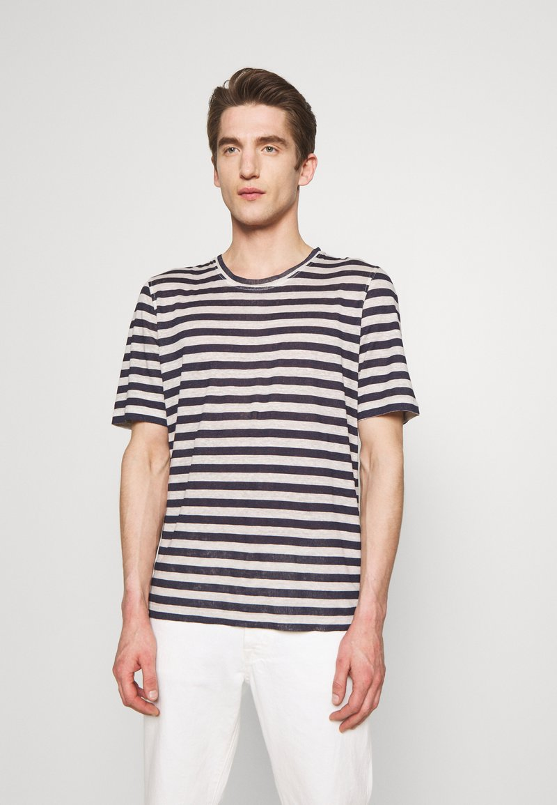 120% Lino - STRIPE - T-shirt imprimé - grey