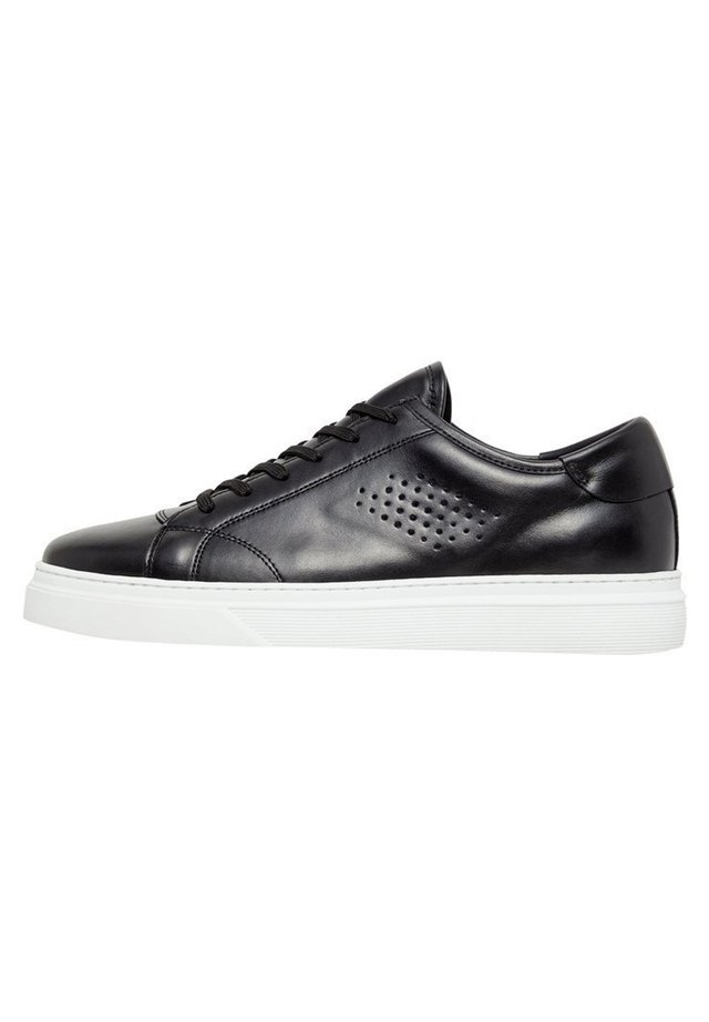 BIANCO SNEAKERS LEDER - Baskets basses - black