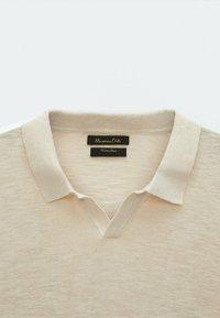 Massimo Dutti - Polo shirt - beige - 4