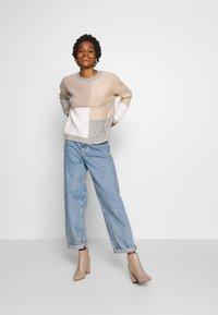 New Look - PATCHWORK JUMPER - Cardigan - cream - 1