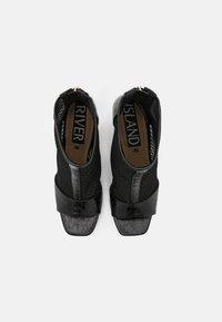 River Island - Kotníková obuv na vysokém podpatku - black - 5