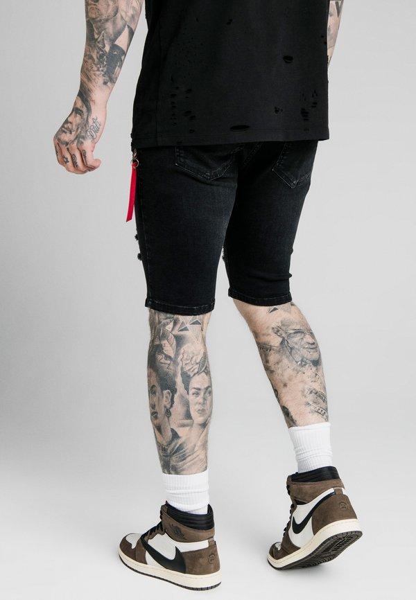 SIKSILK Szorty jeansowe - washed black/czarny Odzież Męska EZGJ