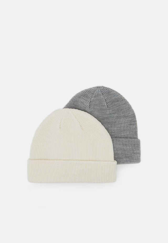 2 PACK - Beanie - light grey/white
