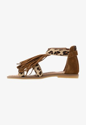 Sandals - beig/basket cognac