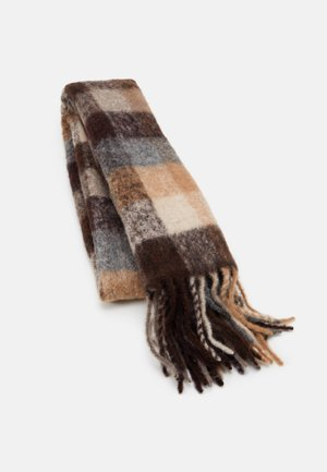 IBISCO CHECK - Scarf - brown