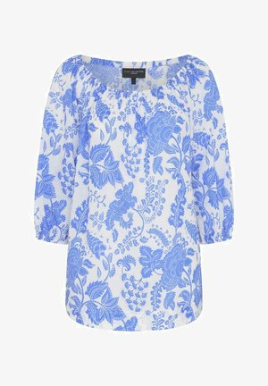 FLORAL - Long sleeved top - blue, white