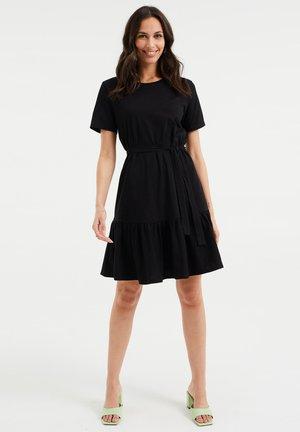 MET VOLANT - Jerseykleid - black
