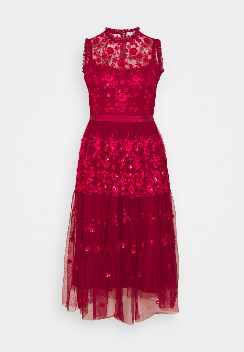 STUDIO ID - EMBROIDED DRESS - Cocktail dress / Party dress - red