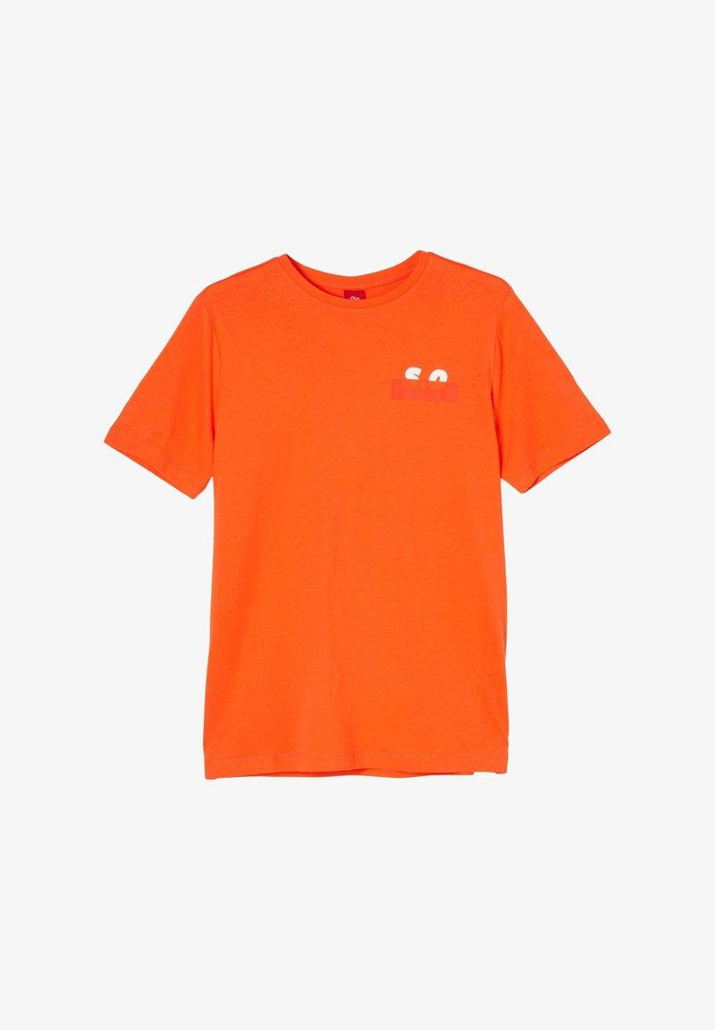 s.Oliver - Print T-shirt - orange