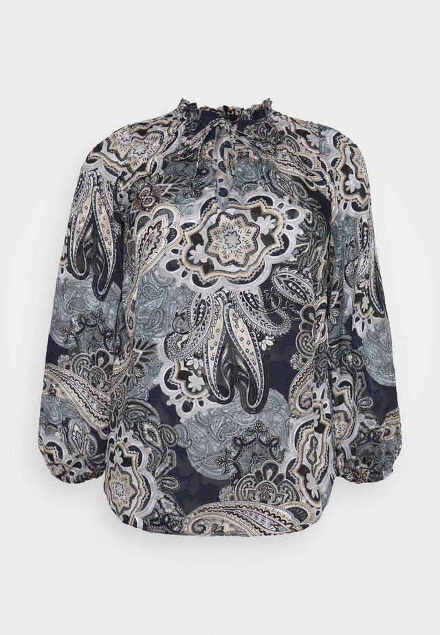 NEUTRAL PAISLEY BLOUSE - Bluser - black