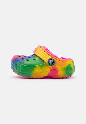CLASSIC LINED TIE DYE CLOG - Slippers - electric pink/multicolor