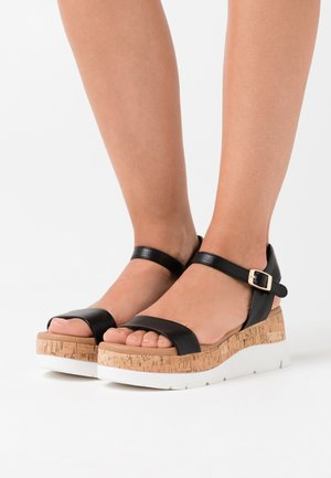 ROXXIE WEDGE - Platform sandals - black