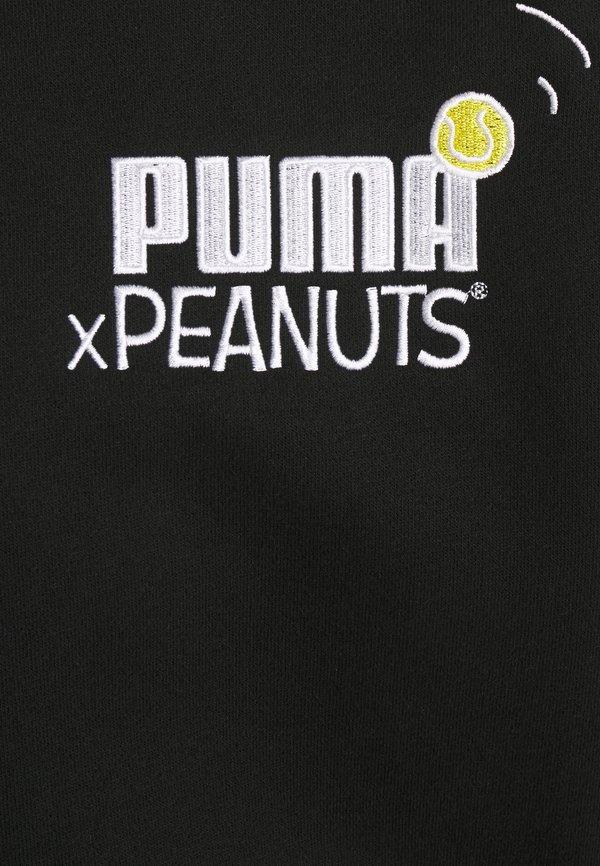 Puma PEANUTS HOODIE - Bluza z kapturem - black/czarny Odzież Męska PRQI
