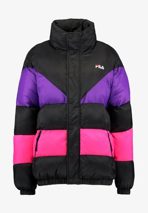 REILLY PUFF JACKET - Winter jacket - black/tillandsia purple/pink yarrow