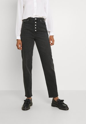 BUTTON CLOSURE - Straight leg jeans - grey