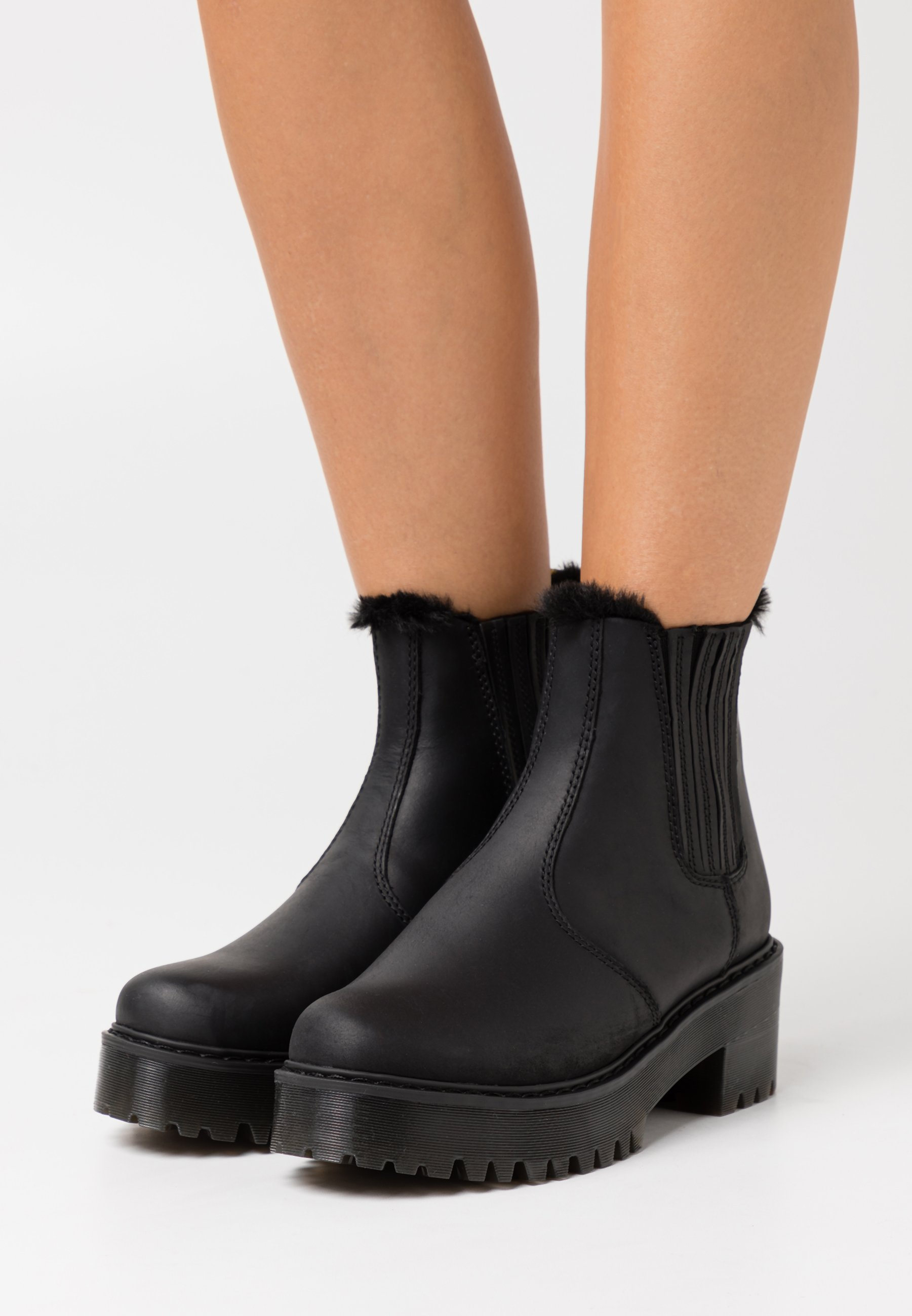 Women ROMETTY  - Platform ankle boots - black