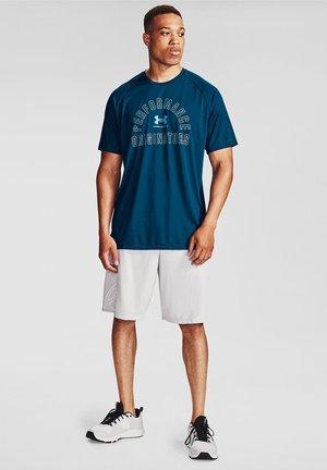 Print T-shirt - graphite blue