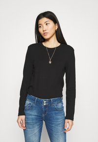 CALANDO - Long sleeved top - black - 0