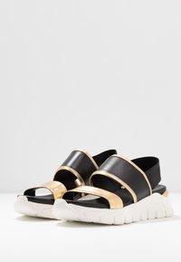 Tosca Blu - PONZA - Korkeakorkoiset sandaalit - nero/platino - 4