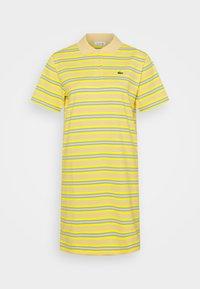 Lacoste - Jersey dress - zabaglione/pineapple/chambray/flour - 0