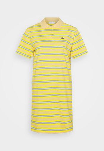 Jersey dress - zabaglione/pineapple/chambray/flour