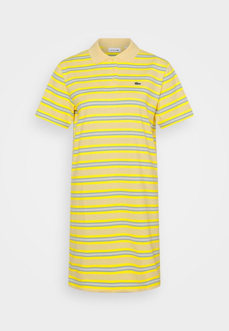 Lacoste - Jersey dress - zabaglione/pineapple/chambray/flour