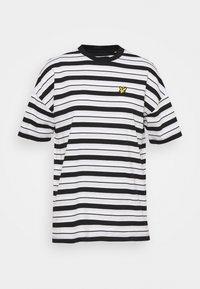 Lyle & Scott - STRIPE - Print T-shirt - jet black - 0