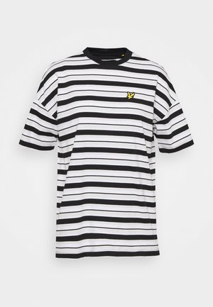 STRIPE - Print T-shirt - jet black
