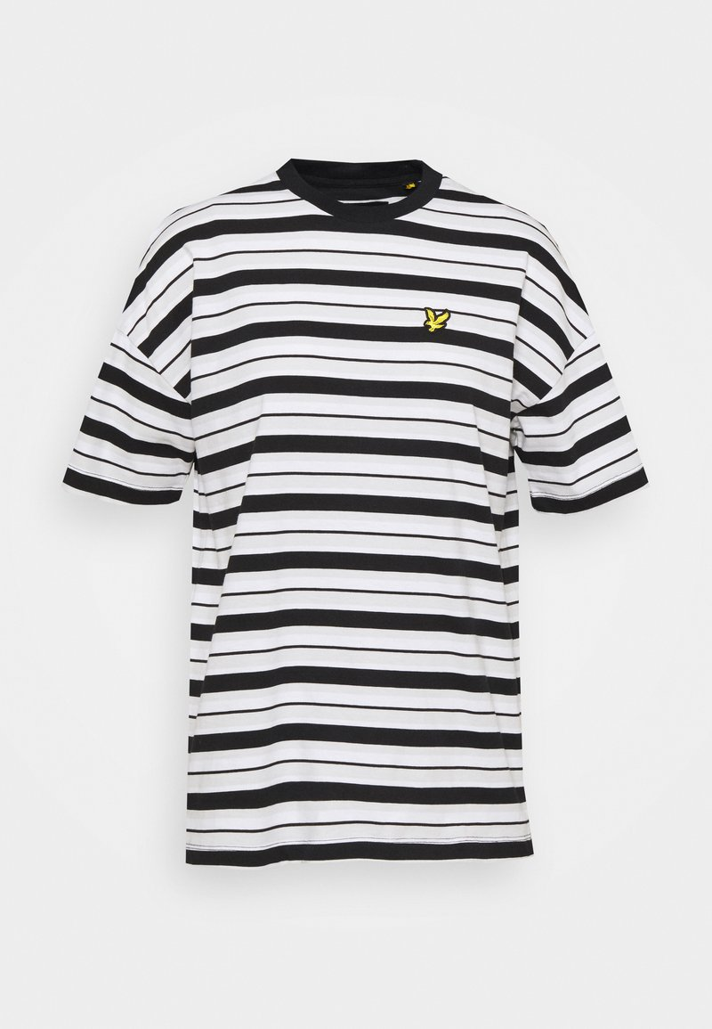 Lyle & Scott - STRIPE - Print T-shirt - jet black