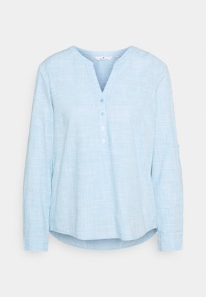 BLOUSE SLUB STRUCTURE - Blouse - clear light blue