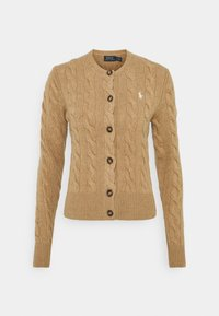 Polo Ralph Lauren - CARDIGAN LONG SLEEVE - Cardigan - luxury beige heather - 0