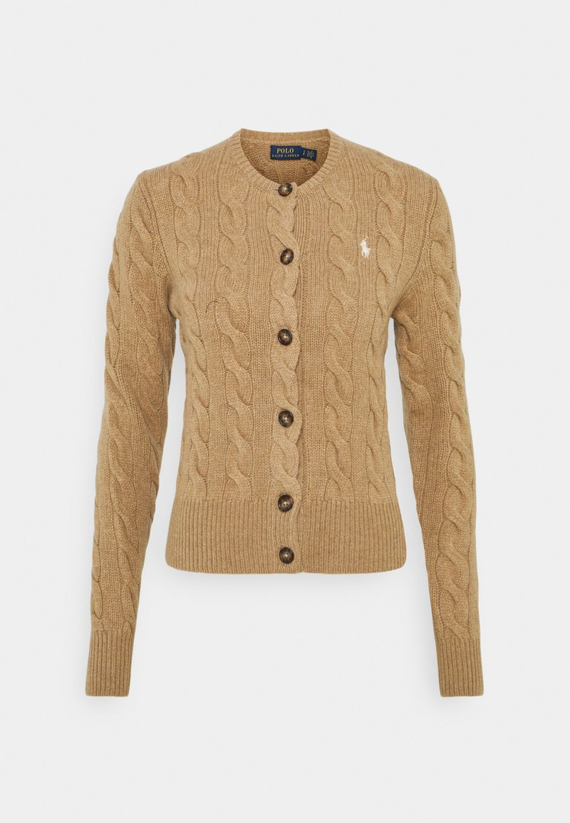 Polo Ralph Lauren - CARDIGAN LONG SLEEVE - Cardigan - luxury beige heather