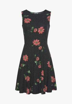 STRANDKLEID - Day dress - schwarz-rot