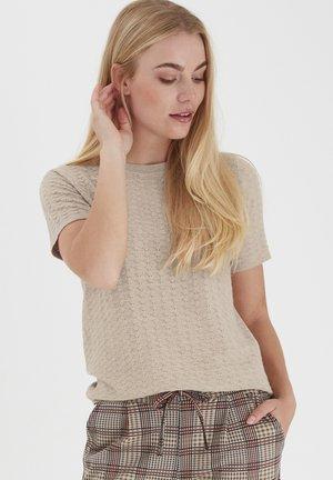 T-shirts basic - beige melange