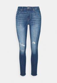 ONLCARMEN RAW - Jeans Skinny Fit - medium blue denim